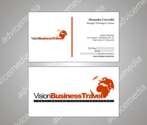 Model carti de vizita agentie de turism