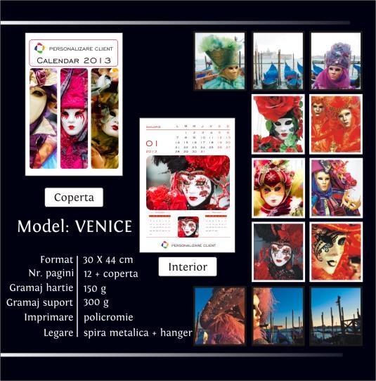 VENICE model blog calendar perete