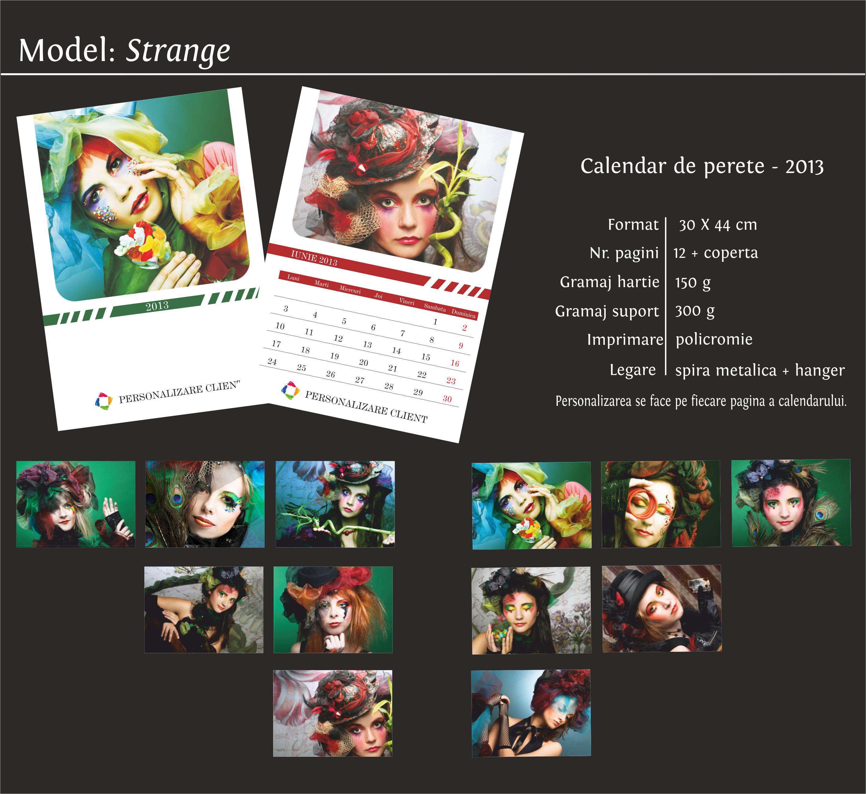 calendare de perete model strange