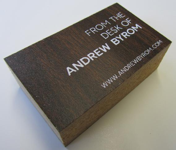 carti de vizita lemn